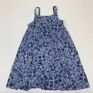 Old Navy Girls Dress Blue White Sundress Floral 3T